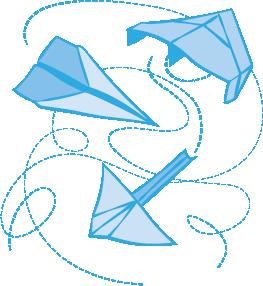 Papierflieger-Wettbewerb